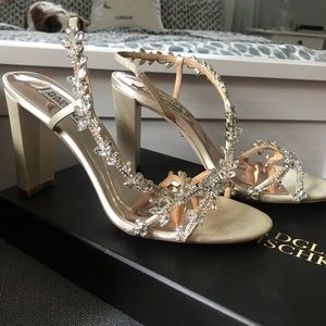 Badgley Mischka bridal shoes, size 8